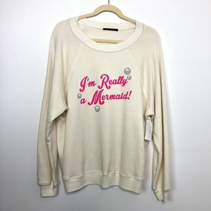 WILDFOX I'm really a mermaid Pullover Sweatshirt